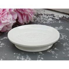 ceramiczna mydelniczka #ceramic #soap #soapdish #white #vintage