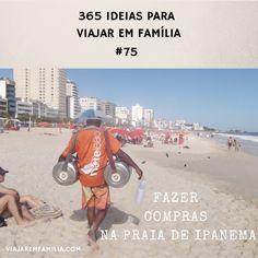 Fazer compras na praia de Ipanema