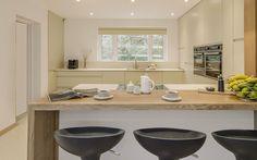 Matt Handleless Slab with Corian Corian, Modern, Kitchen, Trendy Tree, Cooking, Kitchens, Cuisine, Cucina