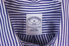 Brooks Brothers Slim Fit Mens M Blue White Stripe Oxford Non Iron LS Shirt #BrooksBrothers #ButtonFront