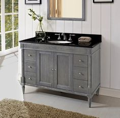 Designed to flaunt the beauty of its wood, Rustic Chic invites you to bring a touch of texture to your bath. The earth-bound, organic look derives its appeal from clean lines and tactile Silvered Oak veneers, accented with subtle brushed nickel finished knobs. A variety of cabinet sizes and configurations allows you to customize your …