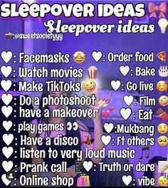Birthday Sleepover Ideas, Sleepover Party Games, Teen Sleepover, Sleepover Activities, Slumber Parties, Things To Do At A Sleepover, Crazy Things To Do With Friends, Best Friend Activities, Best Friends Whenever