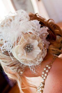 Bridal Hair: Photo by Tilt Shift Studios via Heather Renee Celebrations Rustic Wedding Hairstyles, Vintage Hairstyles, Wedding Pics, Wedding Day, Wedding Stuff, Vintage Hair Accessories, Farm Yard, Rustic Elegance, Unique Weddings