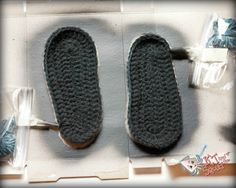 Non slip sole idea for felted slippers