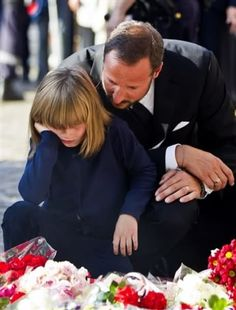 Crown Prince Haakon and daughter Princess Ingrid