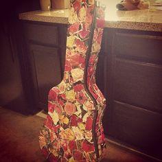 decoupage guitar case