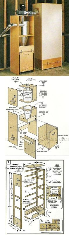 DIY Cyclone Dust Collector - Dust Collection Tips, Jigs and Fixtures | WoodArchivist.com