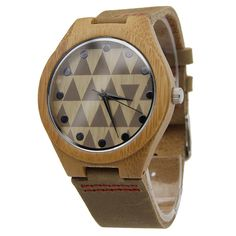 Bamboo Watch with Checker Face Real bamboo wood High quality Japanese quartz movement Luxious, soft genuine leather strap Durable & Long Lasting Diameter of the dial inches Cute Watches, Stylish Watches, Watches For Men, Cuir Vintage, Affordable Watches, Wooden Watch, Gifts For Boys, Punk Fashion, Gold Watch