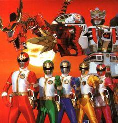 Power Rangers Mighty Morphin Sentai Key Figure S2 Super Dairanger Ryu Red Ranger