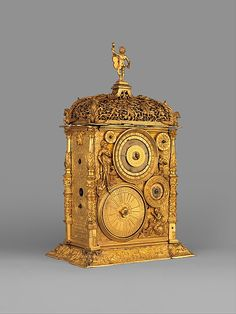 Movement probably by Jeremias Metzger   Astronomical table clock   German, Augsburg   The Met