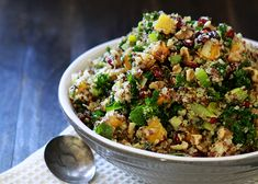 Quinoa Stuffing with Butternut Squash and Kale