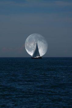 Follow the moon.