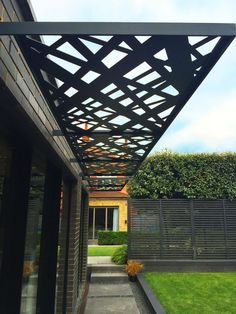 Laser cut screens - Brise soleil - Crosshatch design by Miles and Lincoln…