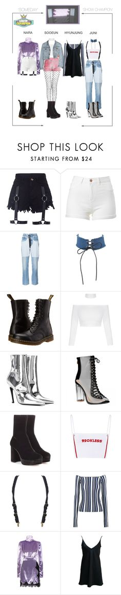 """DILAD (딜라드) 'SOMEDAY' Show Champion (3rd win)"" by dilad-official ❤ liked on Polyvore featuring Off-White, Dr. Martens, Balenciaga, Miu Miu, Jacquemus, Alessandra Rich and diladsomedayera"