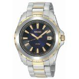 Seiko Men's SGEE72 Sport Two-Tone Solid Stainless-Steel Case and Bracelet Dark Blue Dial Watch (Watch)  #watch