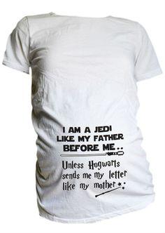 Star Wars Harry Potter Mutterschaft T Shirt von CutieButtsBoutique