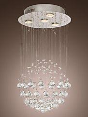 Chandelier Luxury Modern Crystal Bulb Included 4 Lights – USD $ 79.99
