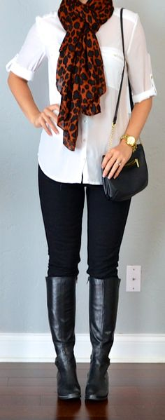 I really like this look, it's simple, casual, but classy.