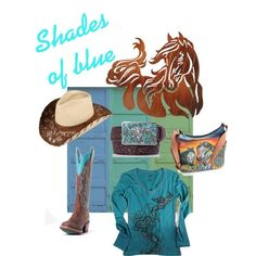 Shades of blue, created by pfiwestern on Polyvore