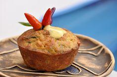 VegeGuláš: Slané cuketové muffiny