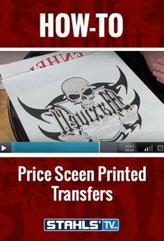 Having trouble figuring out what to charge for your completed design? In this video, featured educator Dane Kane of Transfer Express talks about the prices of the most popular screen printed transfers, and how to price the finished garments for your customer. StahlsTV.com