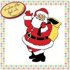 Santa Claus SVGDXFclipartsanta claus cut filechristmas