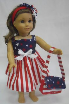 Three+Piece+Patriotic+Doll+Outfit+for+an+18+by+AngleKisses+on+Etsy