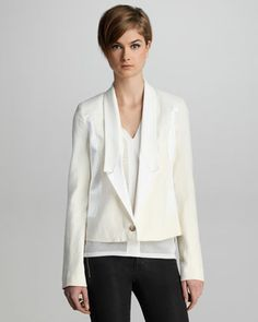 Marion Twill Blazer by J Brand Ready to Wear at Bergdorf Goodman.