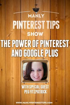 The Manly Pinterest Tips Show with Jeff Sieh! https://plus.google.com/u/0/events/c4ii52pq35oempp9a6ep3rm15ko