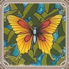 Image result for glass painting pinterest Radha Kishan, Glass Butterfly, All Craft, Stained Glass, Ceramics, Butterflies, Plants, Gardening, Painting