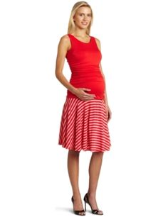 Maternal America Womens Belly Ruched Dress