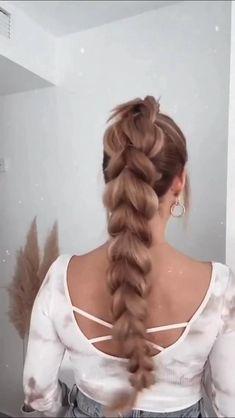 Hairstyles For Medium Length Hair Easy, Work Hairstyles, Braids For Long Hair, Medium Hair Styles, Curly Hair Styles, Box Braids, Clubbing Hairstyles, Hairstyle Ideas, Hairstyle For Long Hair