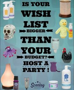 Is your wish list bigger than your pocket book? Why not book a party online, facebook, home or basket party to earn amazing FREE and 1/2 price items!! Contact me today!! http://www.jenniferrenauld.scentsy.ca