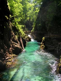The Tolmin gorges in Slovenia are the lowest and southernmost entry point into the Triglav National Park and Bled's gorge most important sight of nature!