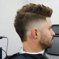 New hair short men makeup 22 Ideas Mullet Haircut, Mullet Hairstyle, Fade Haircut, Cool Haircuts, Haircuts For Men, Mullet Fade, Mohawk For Men, Short Mohawk, Short Hair Cuts