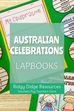 Australian Celebrations Lapbook Templates and Fact Sheets - Ridgy Didge Resources Paragraph Writing, Persuasive Writing, Writing Rubrics, Opinion Writing, Naidoc Week Activities, National Sorry Day, Lap Book Templates, History Education, Physical Education