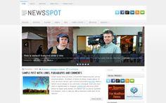News Magazine Web2.0 Free Wordpress Theme #wordpress #news #magazine