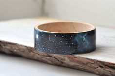 Handpainted bracelet, galaxy, OOAK, blue, black, dark blue bracelet, white, wooden, space, one of kind, MADE to ORDER by MagicTwirl on Etsy https://www.etsy.com/listing/197650677/handpainted-bracelet-galaxy-ooak-blue