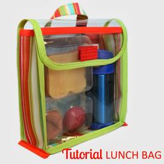 Tutorial: Vinyl Lunch Bag | The Inspired Wren