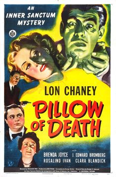"""Movie poster, """"Pillow of Death"""", starring Lon Chaney"""