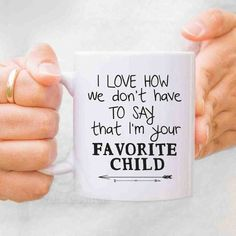 #favoritechild mug for dad, fathers day gift #2016 . Checkout more fathers day mugs by nirvana designs using the link. Repin and Share