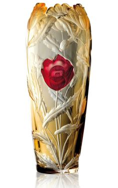 Czech glass vase from Moser Factory