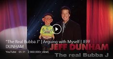 Jeff Dunham Puppets, Comedy Specials, Bing Video, Shut Up, Getting To Know, Actors, Watch, Funny, Youtube