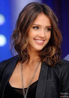 Jessica Alba warm brunette
