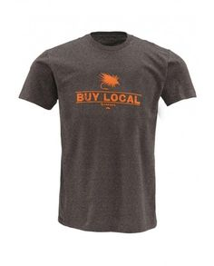 "The Simms ""Buy Local"" T-shirt would look really good on my fly fisherman...or be a great Christmas gift."