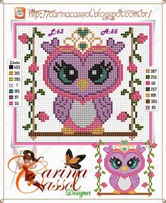 Princess owl pattern by Carina Cassol