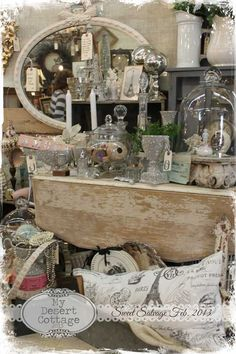 There's something about a massive pile of granny junk that I LOVE. I was born an old soul. **My Desert Cottage**