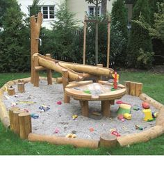 Fantastique plan d& Robinia - Robust Robinie - Michele Risinger, . - Fantastique plan d& Robinia – Robust Robinia – Michele Risinger, - Kids Outdoor Play, Outdoor Play Spaces, Backyard For Kids, Outdoor Fun, Natural Playground, Backyard Playground, Playground Ideas, Water Playground, Water Games