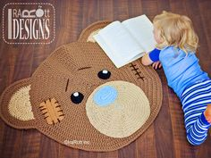 Bear Nursery Rug Carpet Mat Crochet Pattern by IraRott