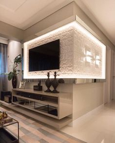 Easy Home Decor For Everyone – Best Puzzles, Games, Ideas & Living Room Tv Unit, Living Room Interior, Home Interior Design, Living Room Decor, Modern Tv Wall Units, Tv Wall Decor, Easy Home Decor, Living Room Designs, House Styles